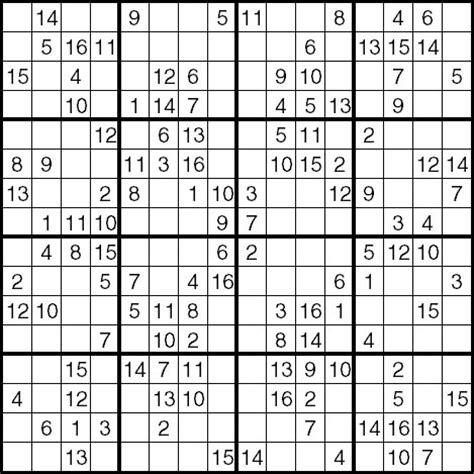 printable hexadecimal sudoku pin 16 x sudoku download print on pinterest