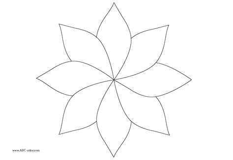 Free Coloring Pages Of Five Petal Flowers Petal Coloring Page
