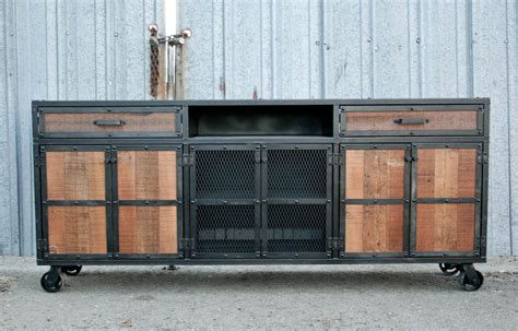 media credenza furniture combine 9 industrial furniture media consoles credenzas
