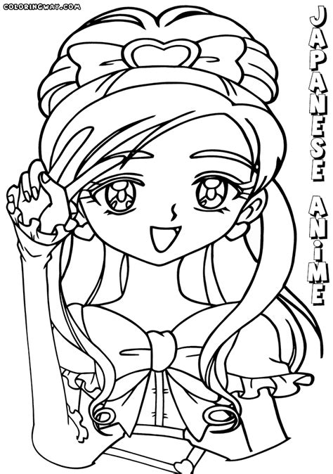 japanese anime coloring pages coloring pages to download