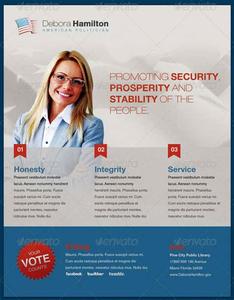10 political flyer templates printable psd ai vector