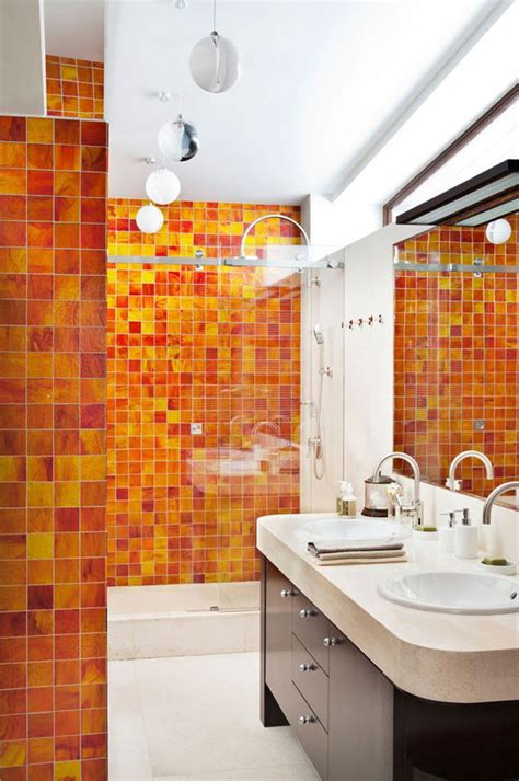 orange bathroom walls 40 orange bathroom tiles ideas and pictures
