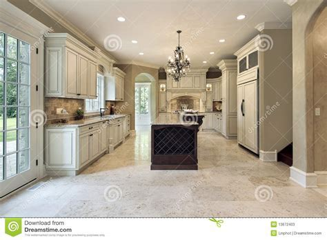 Kitchen With Double Deck Island Stock Photos   Image: 13672403
