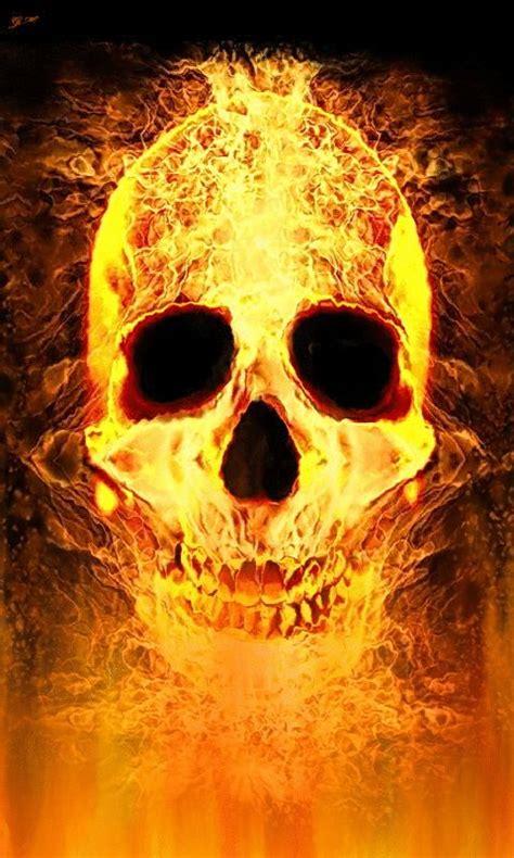 burning flame skull tattoo art amp skull art