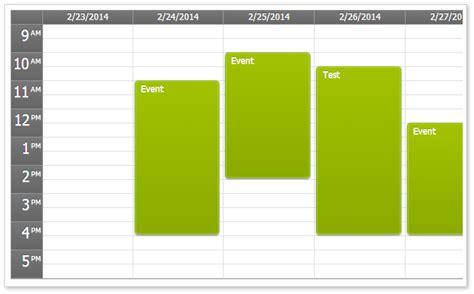 css calendar tutorial html5 event calendar open source daypilot code