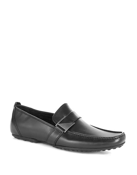 next loafers kenneth cole next wave loafers in black for lyst