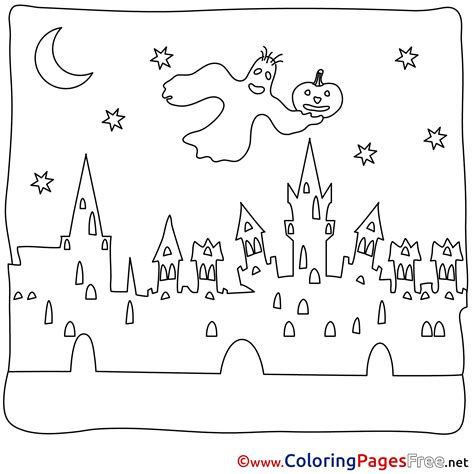 ghost town free coloring pages town printable coloring pages ghost halloween