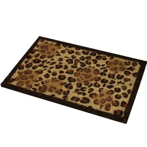 Leopard Doormat large zebra leopard paw print entrance in out door mat 100 coir quality doormat ebay