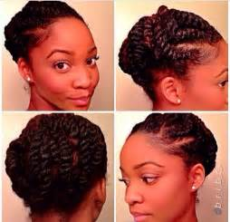 twisted updo protective style hairstyle for black
