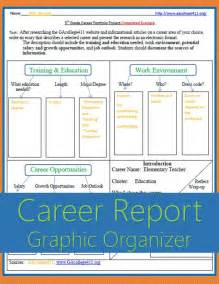 Career Research Paper Middle School by 5th Grade Career Portfolio Project Graphic Organizer Completed Exle Common Standards