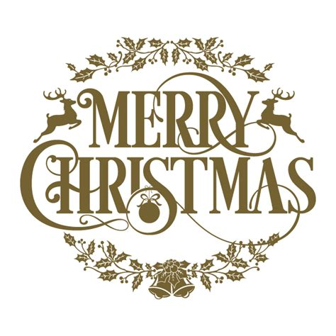 vinyl christmas text merry christmas