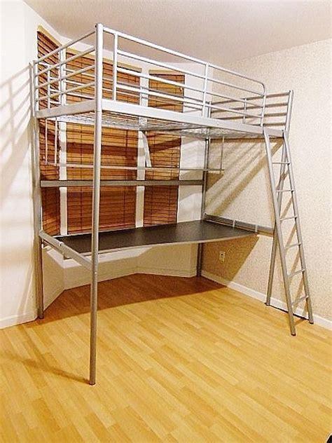 Tromsö Loft Bed Frame Ikea Tromso Loft Bed Frame With Desk Shelf Silver Vancouver City Surrey Mobile