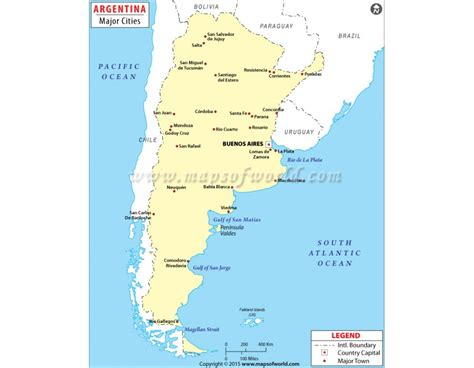 map of argentina cities buy printed map of argentina cities