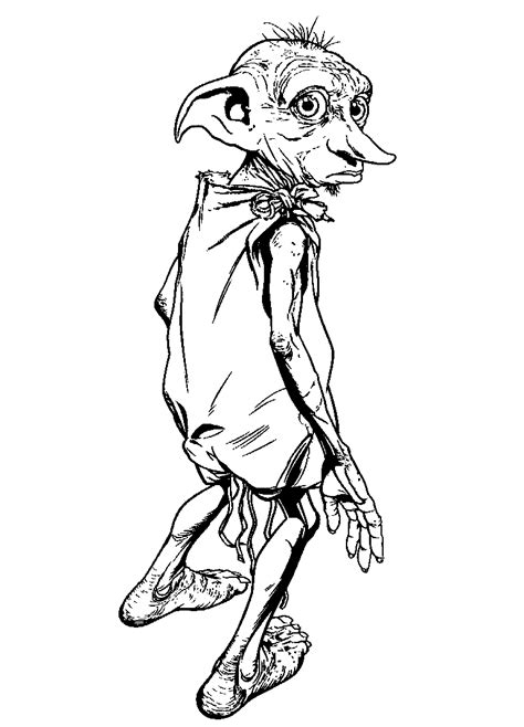 Harry Potter Dobby Coloring Pages | harry potter coloring pages coloringpages1001 com
