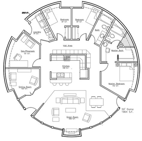 hobbit house floor plans plan quot a president s choice quot monolithic dome home plan callisto vi exteriors and eco options