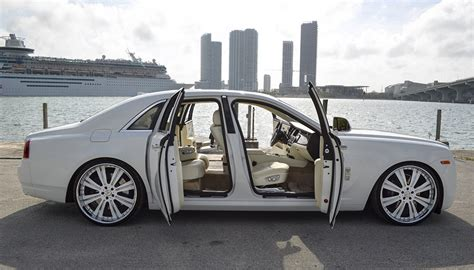 Rolls Royce Ghost ? White Miami Luxury Exotic Car Rentals & Yacht Rentals