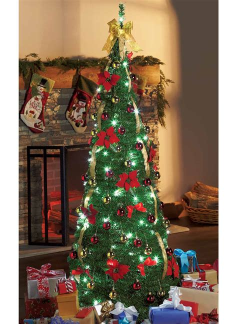 brylane pop up christmas tree decorated pop up trees www indiepedia org