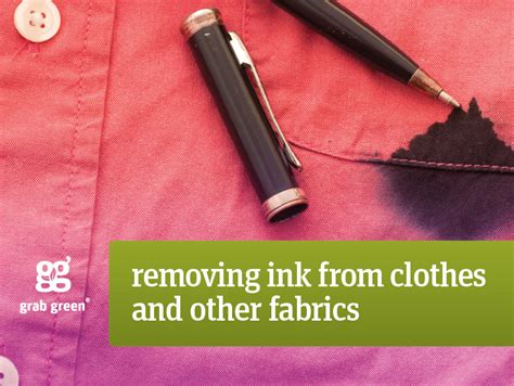 Remove Ink From by How To Remove Ink Stains From Clothes Grab Green