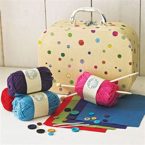 learn to knit kit children s learn to knit in a suitcase by crafts4kids