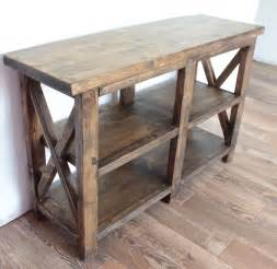 Entry Tables by White Rustic Entryway Table Diy Projects