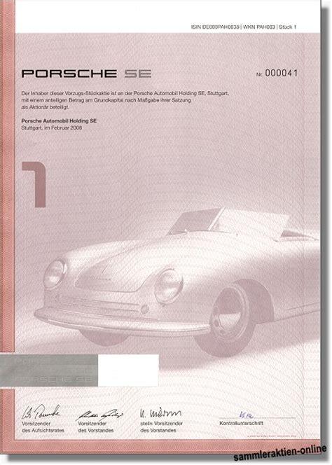 Porsche Holding Aktie by Porsche Automobil Holding Se Unentwertet Mit Coupons Ab