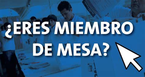 reniec consulta si es mienbro de mesa 2016 elecciones 2016 mira aqu 237 si eres miembro de mesa