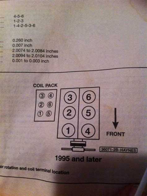 2001 ford taurus firing order ford ranger spark diagram wiring diagram with