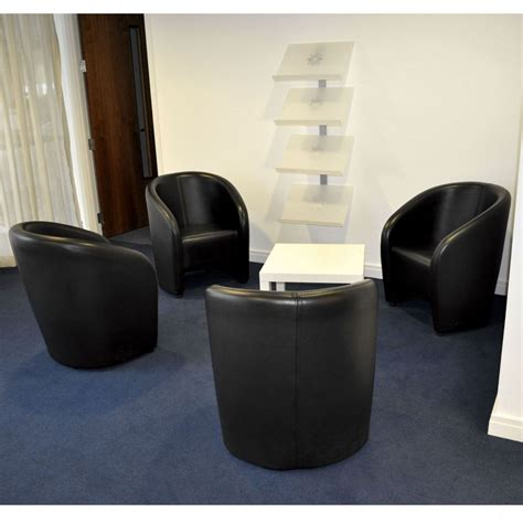 black leather tub reception chairs leather chair reception seat  black leather