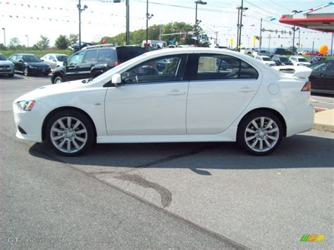 lancer mitsubishi white wicked white metallic 2011 mitsubishi lancer ralliart awd