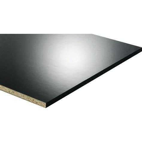 tablette m 233 lamin 233 glossy noir l 250 x l 60 cm x ep 18 mm leroy merlin