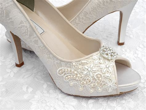 Lace Wedding Heels by Craftsfrenzy Bridal Shoes Lace