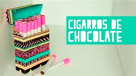 como decorar latas de tabaco cigarros de chocolate con cajetilla anie youtube