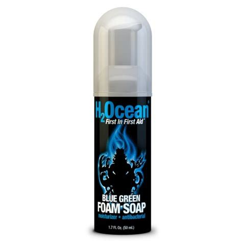 tattoo care wash h2ocean blue green foam soap tattoo wash beautyalmanac com