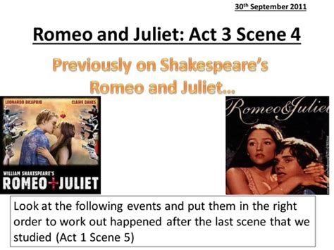themes in romeo and juliet act 4 romeo and juliet act 3 scene 4 by he4therlouise teaching