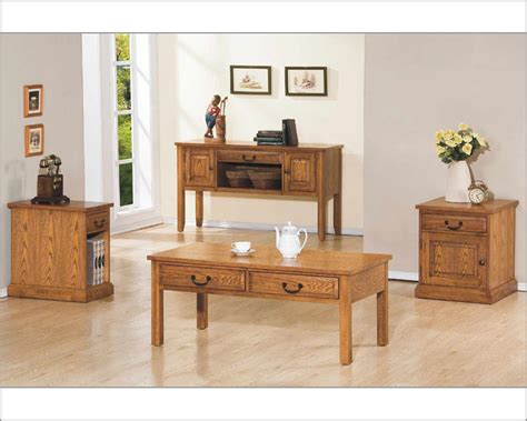 Set Zahara winners only coffee table set zahara in light oak wo