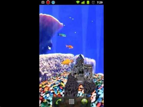 aquarium 3d live wallpaper youtube android 3d aquarium live wallpaper 1 4 youtube