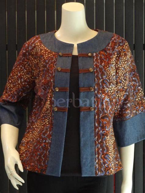 Blouse Batik Lawasan outer lasem lawasan coklat batik tenun kebaya