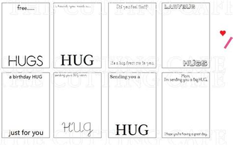 cards template hug the cutting cafe card folds