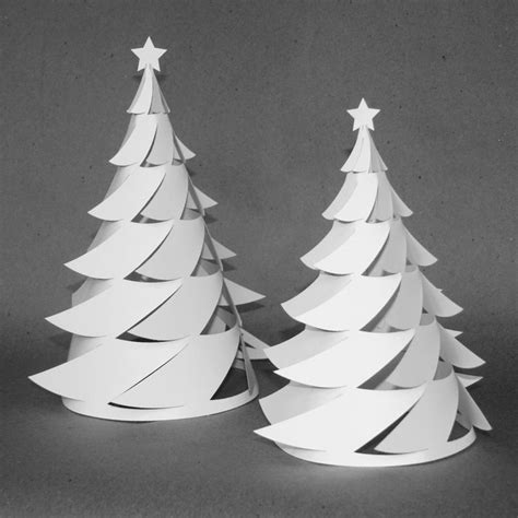 3d Paper Christmas Tree Luminaria Crafthubs Holiday Inspiration Pinterest Christmas 3d Paper Tree Template