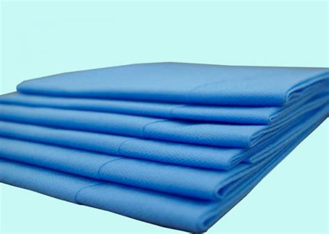 Pp Bedsheet Sprei Chequer Blue blue pink hospital pp spunbond nonwoven disposable bed sheet in surgical of item 101286118