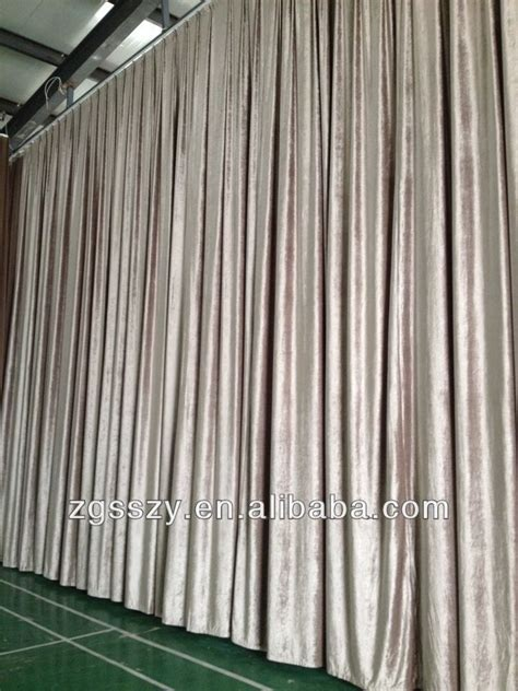 theatrical curtains for sale electric black velvet fabric blackout church stage curtain