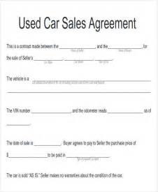 Sle Agreement Letter Between Buyer Seller Sle Automobile Sales Contracts 8 Exles In Word Pdf