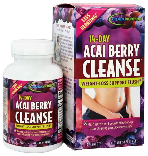 Applied Nutrition Detox Diet by Buy Applied Nutrition 14 Day Acai Berry Cleanse 56