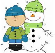 Winter Clothing Standing Next To A Snowman Wearing Hat