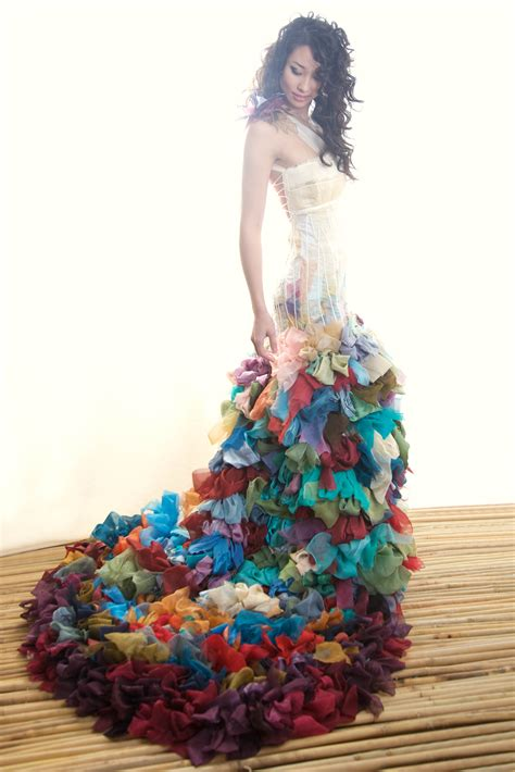 Colourful Wedding Gowns wai ching 183 rock n roll
