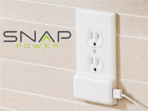 outlet with usb ports snappower adds a usb port to outlets without wiring