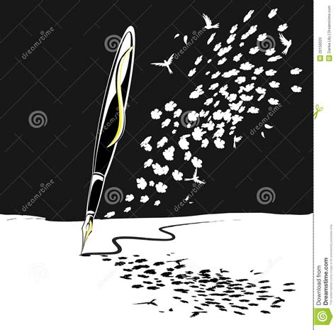 pattern of abstract writing abstract black white writing pen stock vector