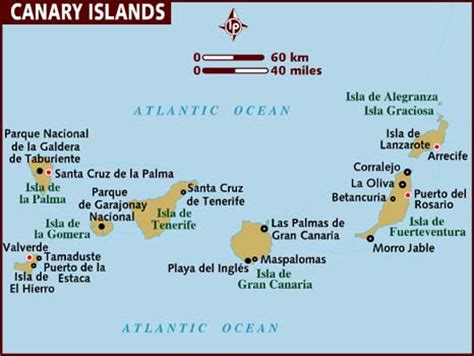 canary islands map map of canary islands