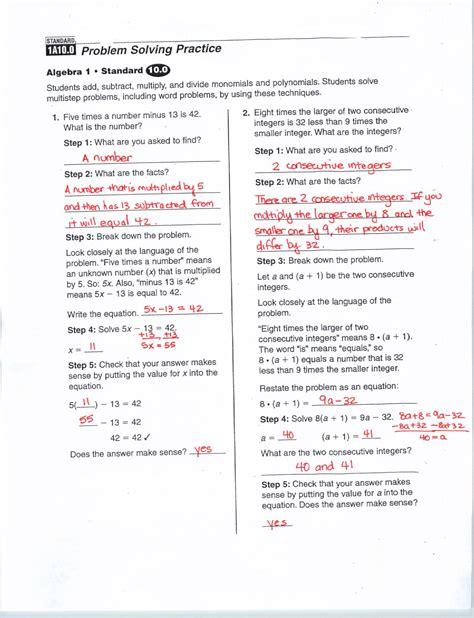 Glencoe Worksheet Answers by Glencoe Algebra 1 Worksheets Answer Key Worksheets