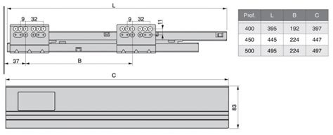 cerniere per cassetti guide cassetto multimarca guida completa vantage q per